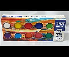 12 צבעי גואש איכותי