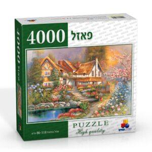 פאזל 4000 חלקים בית כפרי