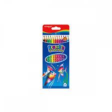 12 עפרונות צבעוניים | דו צדדיים- 24 צבעים