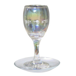 """גביע זכוכית כסף שקוף 15 ס""""מ"""