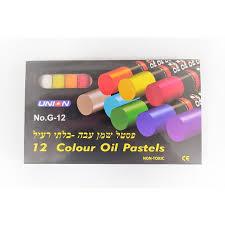 12 צבעי פסטל-שמן עבה