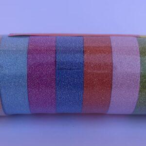 10 וואשיטייפ נצנצים בצבעים שונים