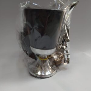 """גביע ציפוי שחור 10 ס""""מ"""